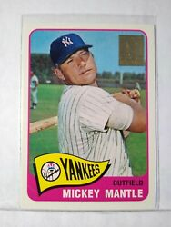 1996 Topps Mickey Mantle Commemorative 15 Of 19 1965 350 - Mint F1613