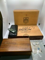 3 Vintage Cigar Wooden Boxes Aliados/punch/tabacalera + Travel Case + Cutter