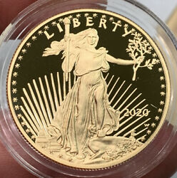 2020 American Gold Eagle Proof Box And Coa Possible Lowest Mintage Year