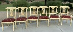 Ethan Allen Legacy Pineapple Dining Room Chairs 6 Country French