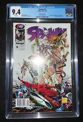 Spawn 9 Cgc 9.4 Newsstand Edition 1st Appearance Medieval Spawn And Angela