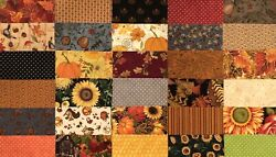60 Sq Charm Pack, Autumn Blend Of 100 Cotton, Quilt Shop Fabric By Moda, Etc.