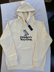 Ovo Heritage Owl Hoodie Cream Embroidered Canada Flag October's Very Own Size Xl