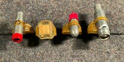 Four Vintage 1940s Toy Premium Rings Lone Ranger, Tom Mix, Terry And The Pirates