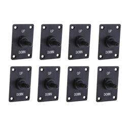 8x Boat Marine 3 Pin Up Down On/off/on Momentary Toggle Switch Panel 12v 15a