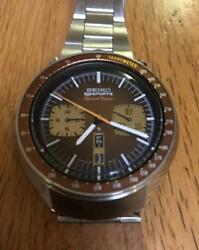 Seiko 6138-0040 Automatic Brown Horse 5sports Speed Timer 6mm Watch 301