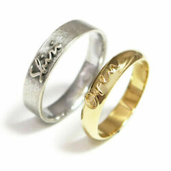 Solid 14k White Yellow Gold Engagement Bands For All Couple Size Available