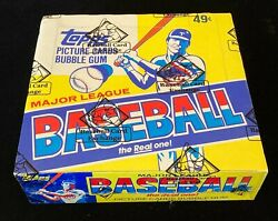 1983 Topps Baseball Unopened Cello Box Bbce Fasc From Sealed Case Free Shipping