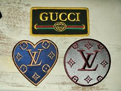 Lot Of 3 Vintage Designer Embroidered Iron On Patches
