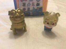 New Disney Puppy Dog Pals Travel Pets -translucent Edition- Gold Rolly And Keia