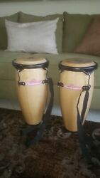 Cp/lp Hand Crafted Congas With Budweiser Logo