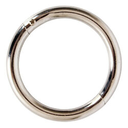 Farm Bull Nose Ring Chromium-plated Carbon Steel Id 2.76and039and039 Od 3.54and039and039
