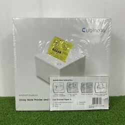 Cubinote Sticky Note Printer And Messenger Internet Enabled Model Cgi-80 White