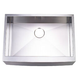 Gourmetier Front Farmhouse Single Bowl Kitchen Sink With Brushed Kuf302110bn