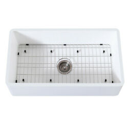 Gourmetier Farmhouse Kitchen Sink With Strainer And Grid Kgkfa361810bc
