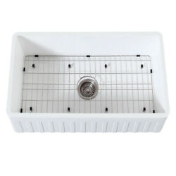 Gourmetier Farmhouse Kitchen Sink With Strainer And Grid Kgkfa301810cd