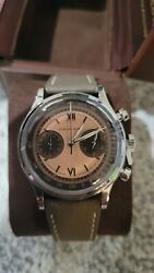 Furlan Marri Chronograph Havana Salmon Watch 38mm 1031-a Sold Out, Discontinued