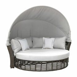 Panama Jack Graphite Canopy Daybed With Cushions Pjo-1601-gry-cd/su-722
