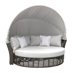 Panama Jack Graphite Canopy Daybed With Cushions Pjo-1601-gry-cd/su-705