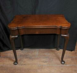 Queen Anne Card Table - Antique Mahogany Tables Games