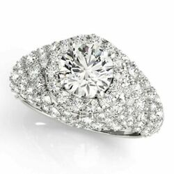 Natural 2.10 Ct Diamond Wedding Ring Solid 950 Platinum Rings Size 7 8 For Sale