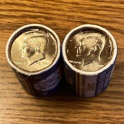 2001 P And D Us Mint Brilliant Sealed Kennedy Half Dollar Coin Roll Uncirculated
