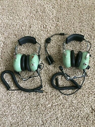 Two David Clark Militay/general Aviation Headset H10-66 Dual Inpedance