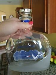 Oval Round Collection Large Grey Goose Vodka Bottle Empty With Cork