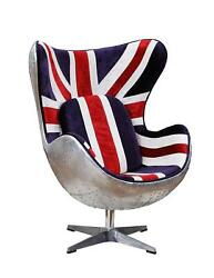 Acme Brancaster Accent Chair With Pattern Fabric And Aluminum Finish 59835