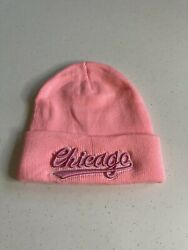 Chicago Pink Sport Knit Cap Beanie Winter Hat Toboggan For City Bears Or Cubs