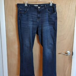 Warp And Weft Sz 18 Verne Denver Slim Bootcut Stretch Jeans Free Shipping