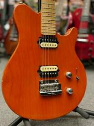 Music Man Axis Sport And039mod.and039 -trans Orange Refinish- 1998