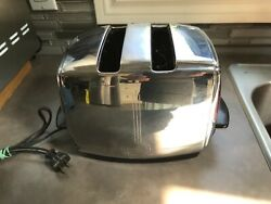 Vintage Sunbeam T-20b Automatic Toaster Art Deco Design Works Made In Usa