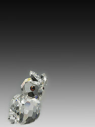Asfour Crystal 665-17 0.86 L X 1.1 H In. Crystal Owl Birds Figurines