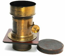 Big Brass Lens Optimus By Perken, Son And Rayment Portrait Lens