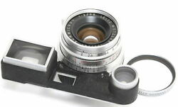 Leica M3 Lens 2 / 35mm Summicron Glass With Scratch Need Service Made In Germany