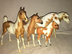 BREYER VINTAGE HORSE TRADITIONAL LOT X5 WHITE TAN BROWN #7 RARE FOAL