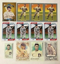 12 Ty Cobb Cards Lot Includes Inserts + Mini Sp  Detroit Tigers
