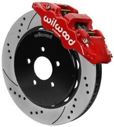 Wilwood Aero6 Front Brake Kit 14.00 Slotted 94-04 Ford Mustang Cobra Red W/lines