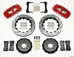 Wilwood Aero6 Front Hat Kit 14.00 Drilled Red 2005-2014 Mustang