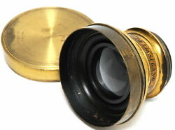Liesegang Germany Brass Wide Angle Lens Around 1880.