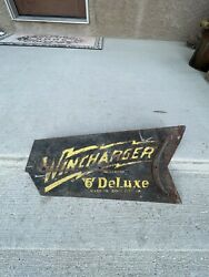 Vintage Wind Generator Tail Fin Advertising Metal Sign Iowa Wincharger