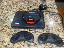Atgames Sega Genesis Flashback -tested Come With Hdmi And Two Controllers