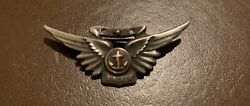 """Texas Estate Ww2 Us Navy 2"""" Sterling Paratrooper Wings Wwii Chaplain"""