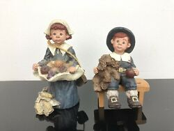 3 Sarahs Attic Limited Figurine Cupcake Twinkie With Dog Bench Thanksgiving 1991