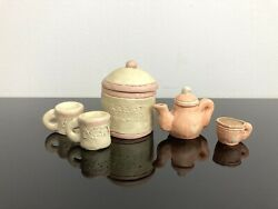 Lot Of 5 Sarahs Attic Limited Edition Figurine Carrot Cookies Jar Teapot Cup