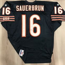 Todd Sauerbrun Authentic Wilson Chicago Bears Jersey 52 Stitched 90s