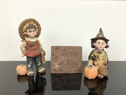 Sarahs Attic Limited Edition Figurines Katie Halloween Witch Whimpy 1990