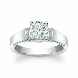 0.70 Ct Round Cut Real Diamond Christmas 14k White Gold Ring Size 6 7 8 9