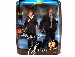 New Sealed Barbie Dolls The X-files Agents Dana Scully Fox Mulder Mattel Giftset